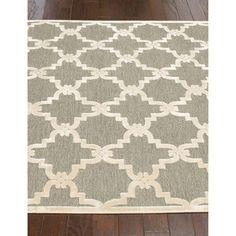 nuLOOM Modern Trellis Grey Faux Silk Rug (9' x 12'7) | Overstock.com Shopping - Great Deals on Nuloom 7x9 - 10x14 Rugs