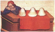 A Feast For The Eyes A salt merchant. Medieval Market, Medieval Life, Renaissance, Medieval Manuscript, Illuminated Manuscript, History Of Pharmacy, Medieval Crafts, High Middle Ages, Book Of Hours