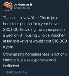 Jailing the homeless for their homelessness? How low how we fallen as a society? Shame on the USA! Intersectional Feminism, The More You Know, Faith In Humanity, Social Issues, Social Justice, Food For Thought, Thought Provoking, Decir No, Humor