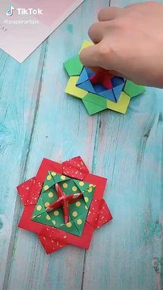 Origami Toys, Instruções Origami, Modular Origami, Origami Design, Origami Fish Easy, Paper Folding Crafts, Paper Crafts Origami, Paper Crafts For Kids, Preschool Crafts