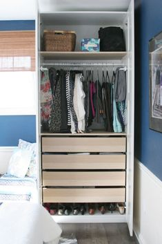 How to work with small closets // Old homes don't typically have large closets -- even in the Master Bedroom. Check out some other options for storage.