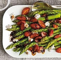 Asparagus and Balsamic Tomatoes