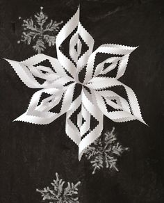 Pinked paper snowflake-a variation on the classic snowflake
