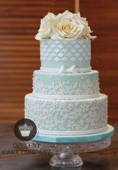Wedding cake idea; Featured: Opulent Cake Company