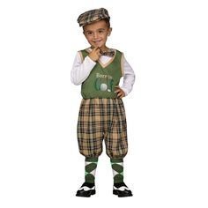Toddler Golfer Costume, Boy's, Size: