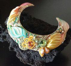 shibori silk collar by GIOIELLIDIROMA on Etsy