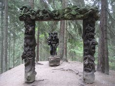 Just off the main street in Juodkrante, Lithuania, the forest is alive with a vast array of fairy-tale creatures, crow-monsters, devils and saxophonists. Known as the Hill of Witches, this public trail through the woods takes visitors on a trip through the most well-known legends and stories in Lithuanian folk history.