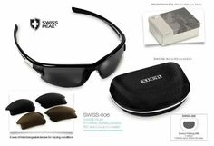 #SWISSPEAK X-TREME #SUNGLASSES uv400 with interchangeable lenses!  R369.99 excl delivery