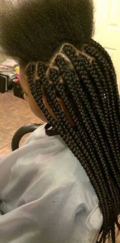 medium box braids : $45