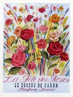 Caron (Perfumes) 1950 La Fête des Roses #vintage