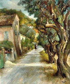 """namk1:  """" Marcel Dyf (1899-1985)  Strolling in Provence 1950  """""""