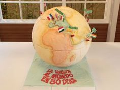 La vuelta al mundo en 80 dias en elgourmet Biscuit Coco, Around The World In 80 Days, Diy Cake, Cute Food, Watermelon, Fruit, World, Worldmap, Gourmet