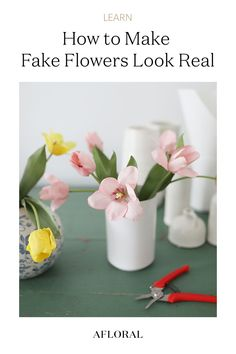 Make your fake flowers look real! Follow our tips on how to get that fresh-from-the-garden look from your faux florals. Shop your favorite faux blooms all year-'round at Afloral.com. Artificial Flower Arrangements, Artificial Flowers, Fake Flowers, Silk Flowers, Florals, Bloom, Diy Projects, Vase, Seasons