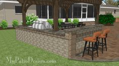 "Heritage Outdoor Kitchen Design #184109P | Your Choice of Side Burner and Drop-In Grill up to 48"" Wide 