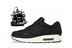 Nike Air Max 1 Black Sail... (with the ThePirateBay joke from the webstore :)
