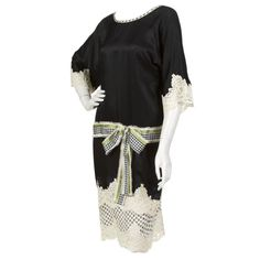 Geoffrey Beene Kimono Sleeve Shift Dress | From a collection of rare vintage evening dresses at https://www.1stdibs.com/fashion/clothing/evening-dresses/