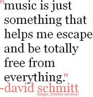 music is just something that helps me escape and be totally free from everything #musicquotes