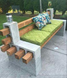 Breeze block bench