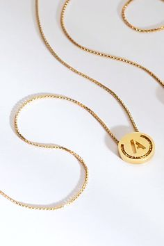 Jewelry OFF! ABC's pendants in lustrous yellow gold vermeil. With threaded chain choose your letter and add a personal touch to your jewellery. Pendant Jewelry, Gold Jewelry, Chain Pendants, Jewelry Accessories, Fine Jewelry, Jewelry Necklaces, Jewelry Design, Women Jewelry, Gold Chain With Pendant