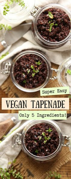 Why waste your money buying ready-made vegan olive tapenade, when you can easily make it for a fraction of the price at home, with just 5 ingredients? #veganspread #tapenade #plantbased