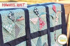 Pinwheel Quilt tutorial from Southern Fabric