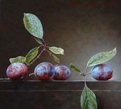 Still life with 4 prunes