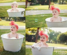 1 Year Old Photography Session | One Year Old Photo Session. Bubble Bath. Kylie ... | Photography insp ...