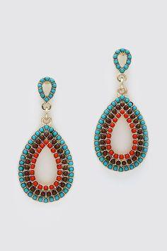 Machella Earrings in Sepia Teal on Emma Stine Limited