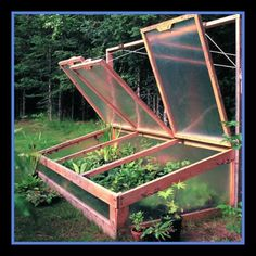 Different styles for a cold-style frame for your garden.