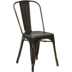 OSP Designs Bristow Armless Chair,Antique Copper, 2-Pack, Bronze
