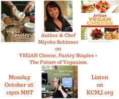 Today on Easy Vegan: Miyoko Schinner! Creator of Miyoko's Kitchen vegan cheese and author of Artisan Vegan Cheese and The Homemade Vegan Pantry. Listen on KCMJ.org (and catch show archives here: https://soundcloud.com/kcmj939/sets/kcmj-easy-vegan)