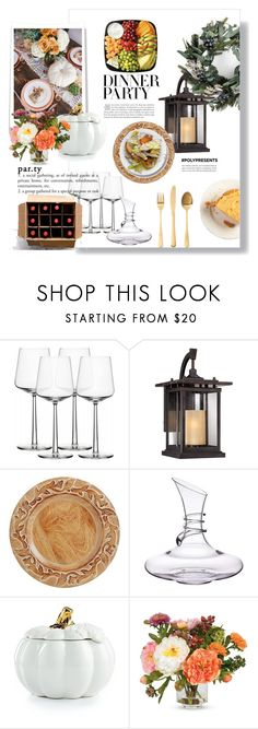 """#PolyPresents: Dinner Party"" by theworldisatourfeet ❤ liked on Polyvore featuring interior, interiors, interior design, home, home decor, interior decorating, iittala, Franklin Iron Works, Pier 1 Imports and Martha Stewart"