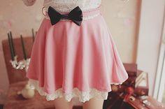 cute pink skirt, K Fashion,  (≧∇≦)/ casual, cute outfit, Cute Korean Fashion, korea, Korean, seoul, kfashion, kpop fashion, girl's wear, ladies' wear, pretty, kawaii