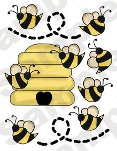 32 YELLOW BEES HIVE BUGS BABY GIRL NURSERY CHILDRENS WALL STICKERS DECALS DECOR
