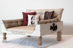 dog bed vintage shabby chic by designercraftgirl, $175.00