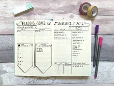 How I track reading in my bullet journal // Reading Goals & Statistics