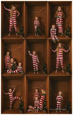 Christmas is my favorite. I love all of the lights and the joy it brings kids. My favorite sessions this year were my box sessions! Christmas Picture Background, Fun Christmas Photos, Creative Christmas Cards, Xmas Photos, Christmas Photo Cards, Christmas Photography, Decoration, Inspiration, Photography Projects