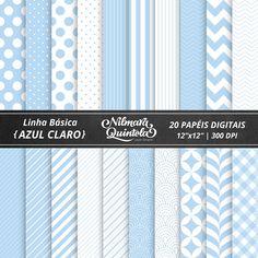 Basic Papers Kit – Light Blue – Nilmara Quintela Paper Designer