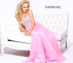 Sherri Hill dresses are designer gowns for television and film stars. Find out why her prom dresses and couture dresses are the choice of young Hollywood. Senior Prom Dresses, Homecoming Dresses Long, Sherri Hill Prom Dresses, Prom Dresses 2015, Designer Prom Dresses, Halter Dresses, Prom 2015, Prom Gowns, Pink Dresses
