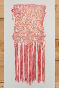 Macrame Wall Hanging Print by AliaDiaz on Etsy
