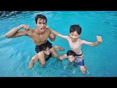 Lucas and Marcus Our Little Sister, Little Sisters, Prank On Mom, Famous Teenagers, Angry Girlfriend, The Dobre Twins, Marcus And Lucas, Shark Pool, Lucas Dobre
