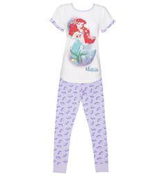 Ladies Disney Little Mermaid Shells Pyjamas : TruffleShuffle.com