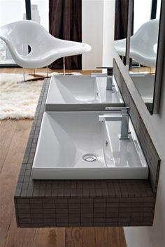 Rechteckiger Waschtisch Breite: 60 cm Serie Mona