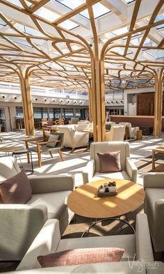 Viking Ocean cruises have taken calm interiors to the next level with Viking Sea's Winter Garden.