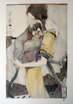 Horst Janssen - Utamaro. 1988.