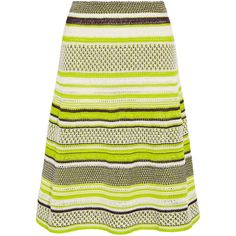 M Missoni Crochet-knit midi skirt ($260) ❤ liked on Polyvore