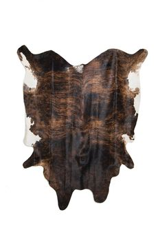 Large Brown and White Brindle Cowhide. 80 x 96.