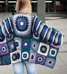 Boho Crochet Jacket Crochet pattern by Crucci NZ Boho Crochet Jacket Crochet pattern by Crucci NZ Related posts:Geht schnell und macht was her: Kreative DIY Adventskalender-Ideen für euren Freund Charting the LV LogoRoter Tee. Black Crochet Dress, Crochet Coat, Crochet Jacket, Crochet Cardigan, Crochet Clothes, Crochet Sweaters, Granny Square Crochet Pattern, Crochet Squares, Crochet Granny