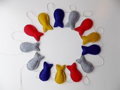 Fish Garland Wall Hanging home and by sewwhimsycreations on Etsy