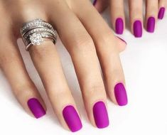17 Amazing Nail Polish Hacks That You'll Love Nails matte nail polish Purple And Pink Nails, Matte Pink Nails, Pink Nail Colors, Matte Nail Polish, Nail Polish Colors, Black Nails, Pink Polish, Pastel Pink, Elegant Nail Designs